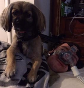 Recent photo  of Matt and his Dog Dargo