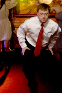 Bustin' a move at Erin and Adam's wedding
